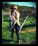 My must haves for fall! Fur vest, booties, printed jeans, and Celine sunnies!